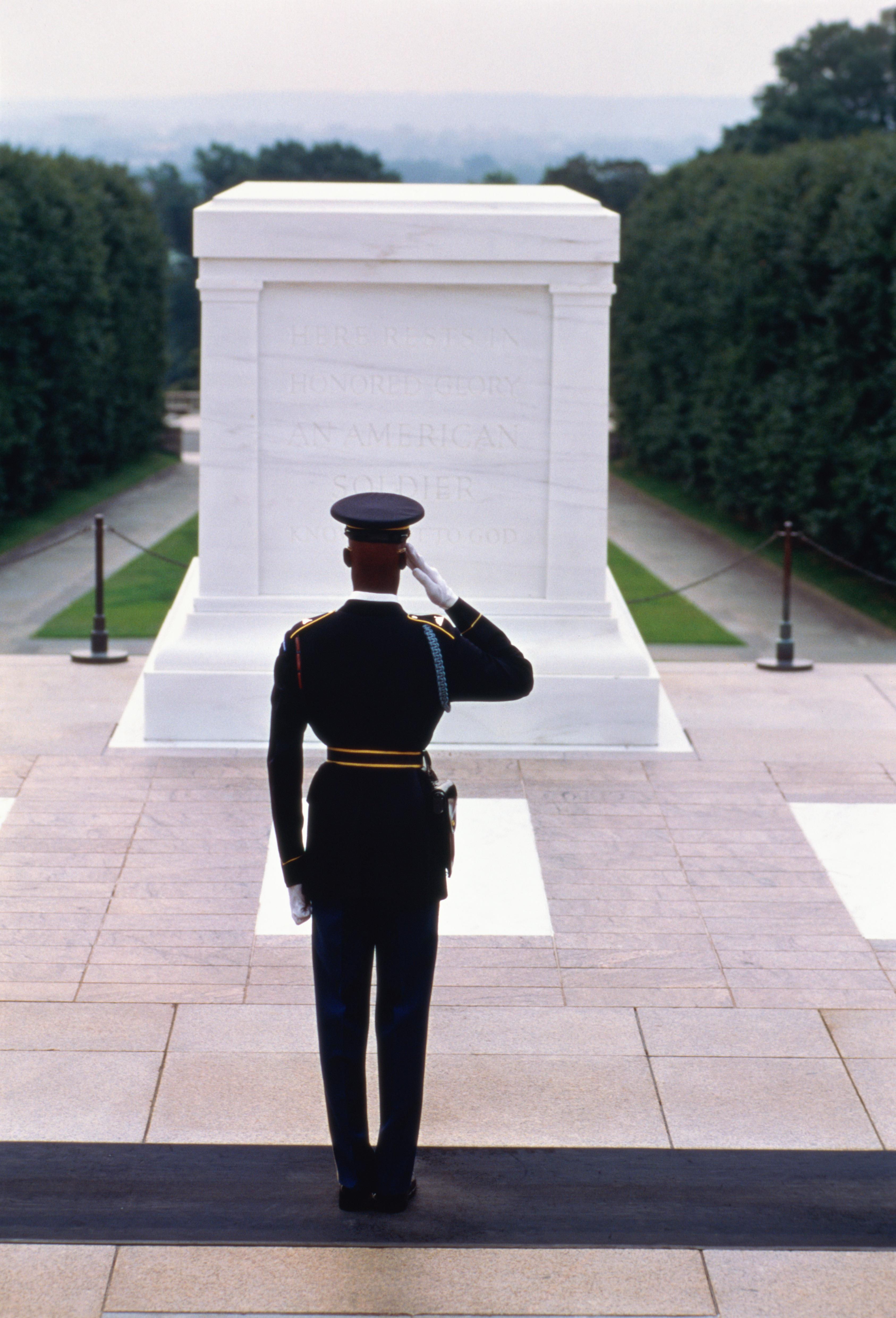USA, Virginia, Arlington National Cemetery, Tomb of Unknown Soldier