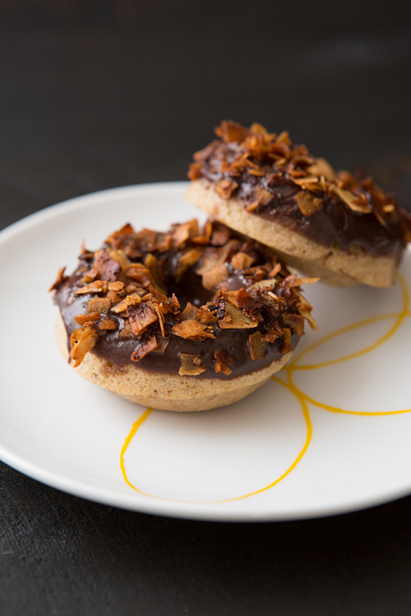 chocolate coconut bacon doughnuts