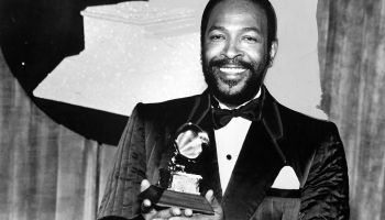 Marvin Gaye Holding A Grammy