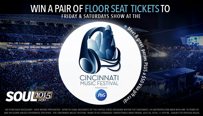 """CINCINNATI MUSIC FESTIVAL """"THE ROAD TO BE UPGRADED""""_Enter-to-win Contest_WDBZ_WOSL_RD_Cincinnati_July 2018"""