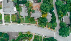 Residential Neighborhood Aerial View