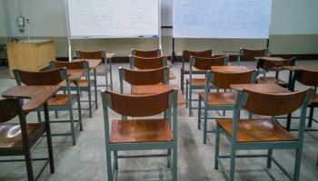 Empty Chairs At Classroom