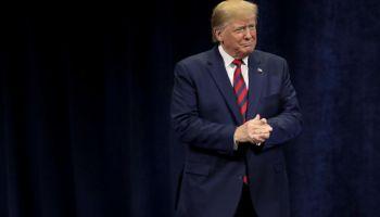 President Trump Addresses The International Association Of Chiefs Of Police