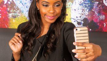 African American Woman Taking Selfie