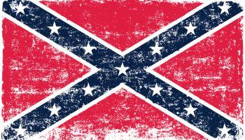 Vector confederate flag
