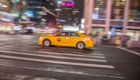 Yellow Taxi In NYC
