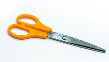 Scissors Over White Background